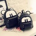 2016 New Mickey Cartoon Backpack PU Leather Bag Paternity Mini Backpack  Korean Female Bag Women Shoulder Bag School Bag