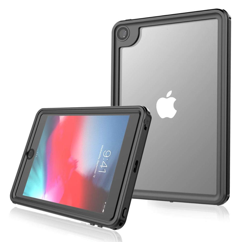 ipad mini black IP68 Waterproof Case For iPad mini 5 Built-in Screen Full-Body Protector Shockproof Dustproof Anti-scratch Cover Skin Black New (1)