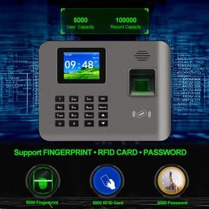 Image 3 - 2.4 بوصة تتفاعل tcp/ip/USB البيومترية بصمة آلة الحضور الوقت فنجر طباعة الوقت على مدار الساعة مسجل التعرف على الموظف