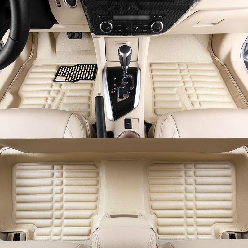 car floor mats pu leather foot rugs carpets set pads cream for Citroen QUATRE Triomphe elysee Picasso C2 C4 C5 C4L free shipping стоимость