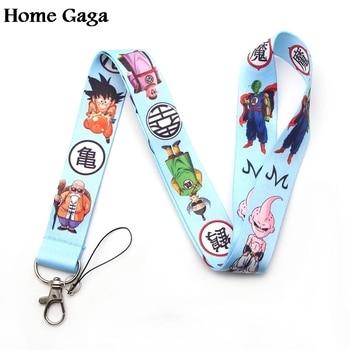 10pcs/lot Homegaga Dragon ball Son goku cartoon lanyards neck straps for phones id card holders keychain webbing D1181