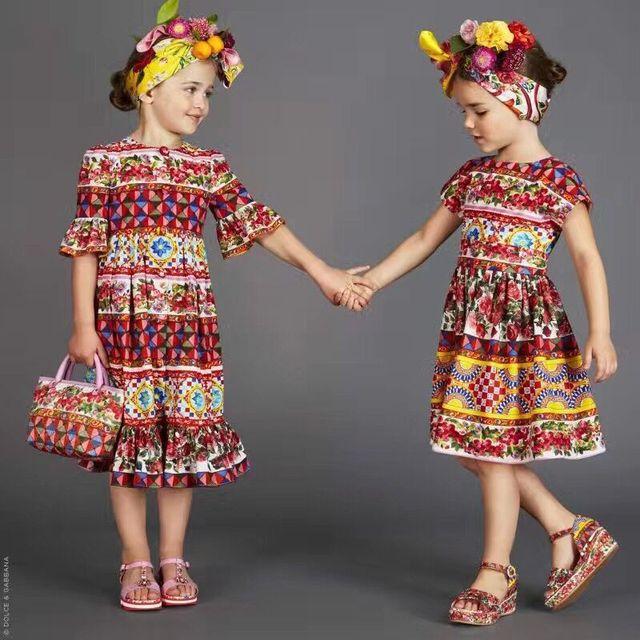 8263fe7f3 2017 Nueva chica de Moda vestido de verano primavera infantil vestidos de  ropa de niños