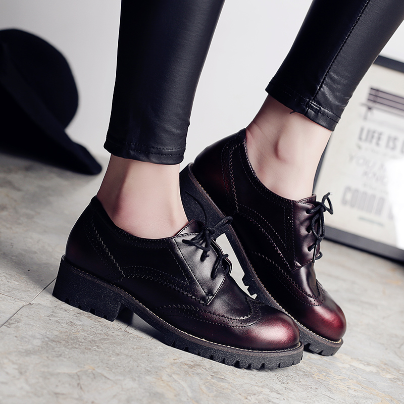 2018 new spring autumn FASHION women casual shoes SLIP ON genuine leather SQUARE toe square heel shoes US SIZE 4.5-8 YZ18-1W cheap sale purchase buy cheap best store to get hoR4p