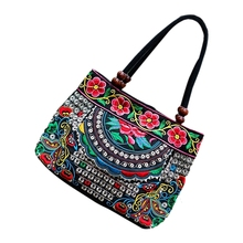 AFBC Chinese Style Women Handbag Embroidery Ethnic Summer Fashion Handmade Flowers Ladies Tote Shoulder Bags Cross-body