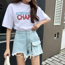 D été Amovible Pocket Ripped Denim Shorts Femmes De Mode Frangée Hem Jeans  Court Hot Shorts Taille Haute Femmes Bas 2018 25e9afe77e8