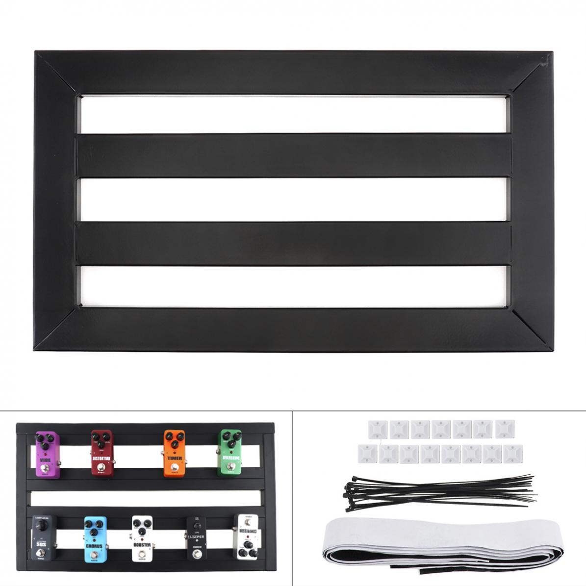 47 x27cm Guitar Pedal Board Setup Bigger Style DIY Guitar Effect Pedalboard with Installation Accessories for