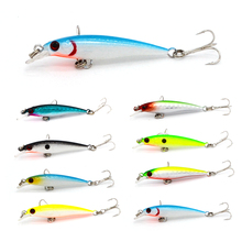 1Pcs 5cm 2.1g Artificial Hard Fishing Bait Minnow Fishing Lures Sinking Trout Bait Wobble Swimming Crankbait Tackle With 3D Eyes