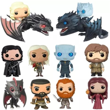 POP Game Of Thrones NIGHT KING Jon Snow Tyrion ICY VISERION Daenerys Rides Drogon Action Figure Collectible Model Toys decor game of thrones character model sansa stark tyrion lannister jaime lannister jon snow ghost action figure toys model toy