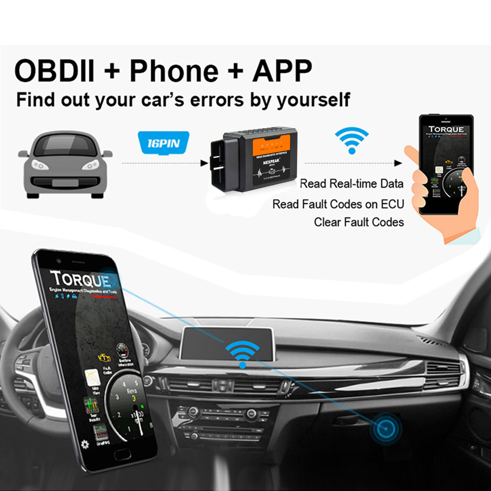 HTB1gv eXjDuK1Rjy1zjq6zraFXaW Elm327 V1.5 WIFI OBD2 PIC18F25K80 Chip Code Reader Elm 327 Bluetoth OBD2 Auto Scanner  V1.5 for Android/IOS Car Diagnostic Tool