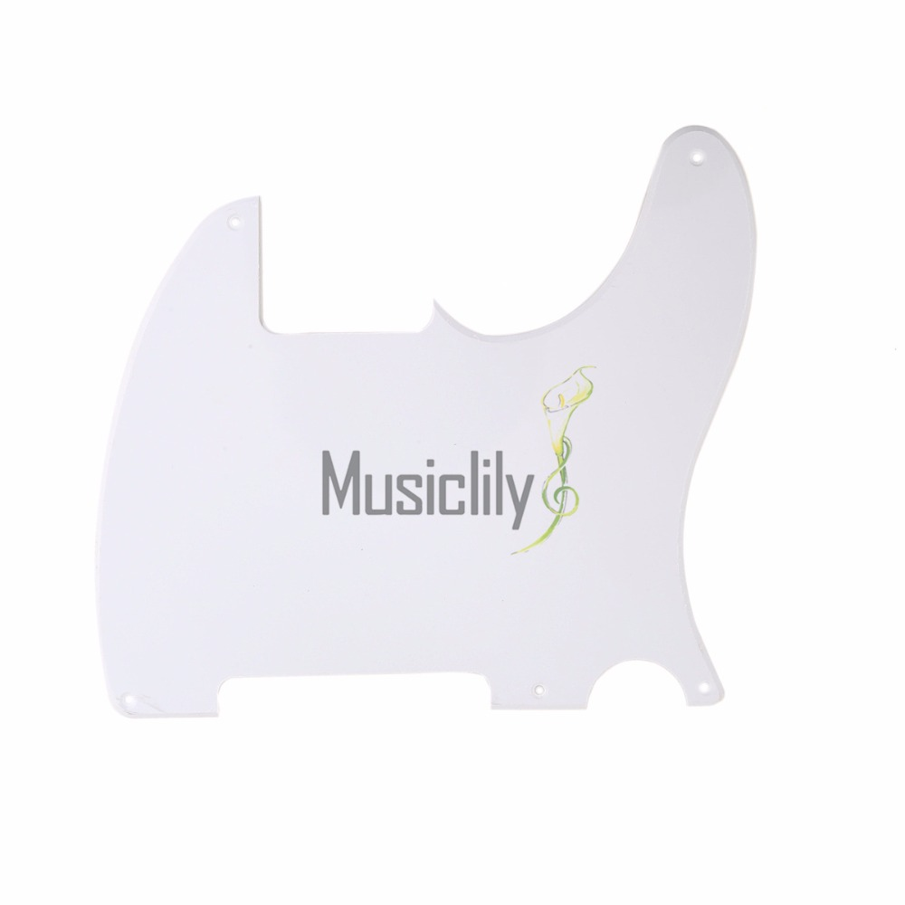 Musiclily Multiple Color 1ply 5 Holes Guitar Pickguard Scratch Plate Pick Guards for Esquire Guitar