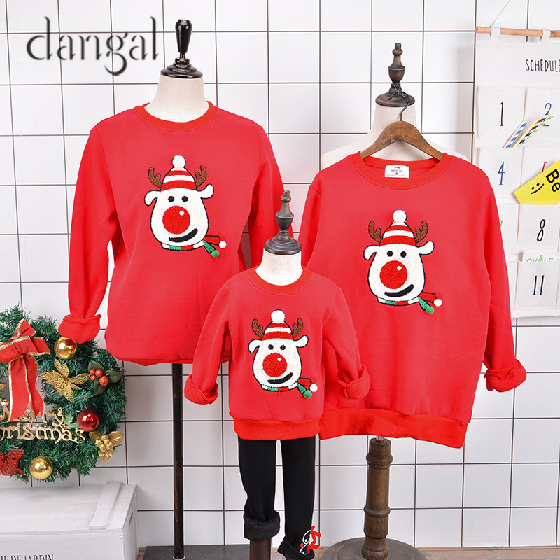 Family Matching Clothes Christmas Sweaters Family Christmas Stocking Reindeer Santa Claus Pattern Winter Warm Sweaters Boy Girl