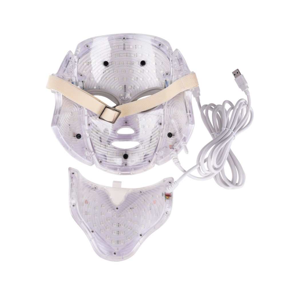 LED Facial Mask Therapy 7 Colors Face Mask Machine Photon Therapy Light Skin Care Wrinkle Acne Removal Face Beauty 20