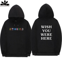 Трэвис Скотт Astroworld WISH YOU WERE HERE толстовки Мода Письмо печати балахон Уличная Мужчины и женщины пуловер Толстовка