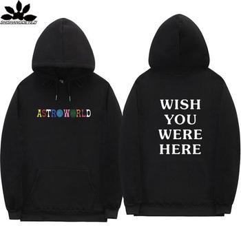 3c8bdf8f2d0f Travis Scott Astroworld WISH YOU WERE HERE hoodies fashion letter print  Hoodie streetwear Man and woman Pullover Sweatshirt