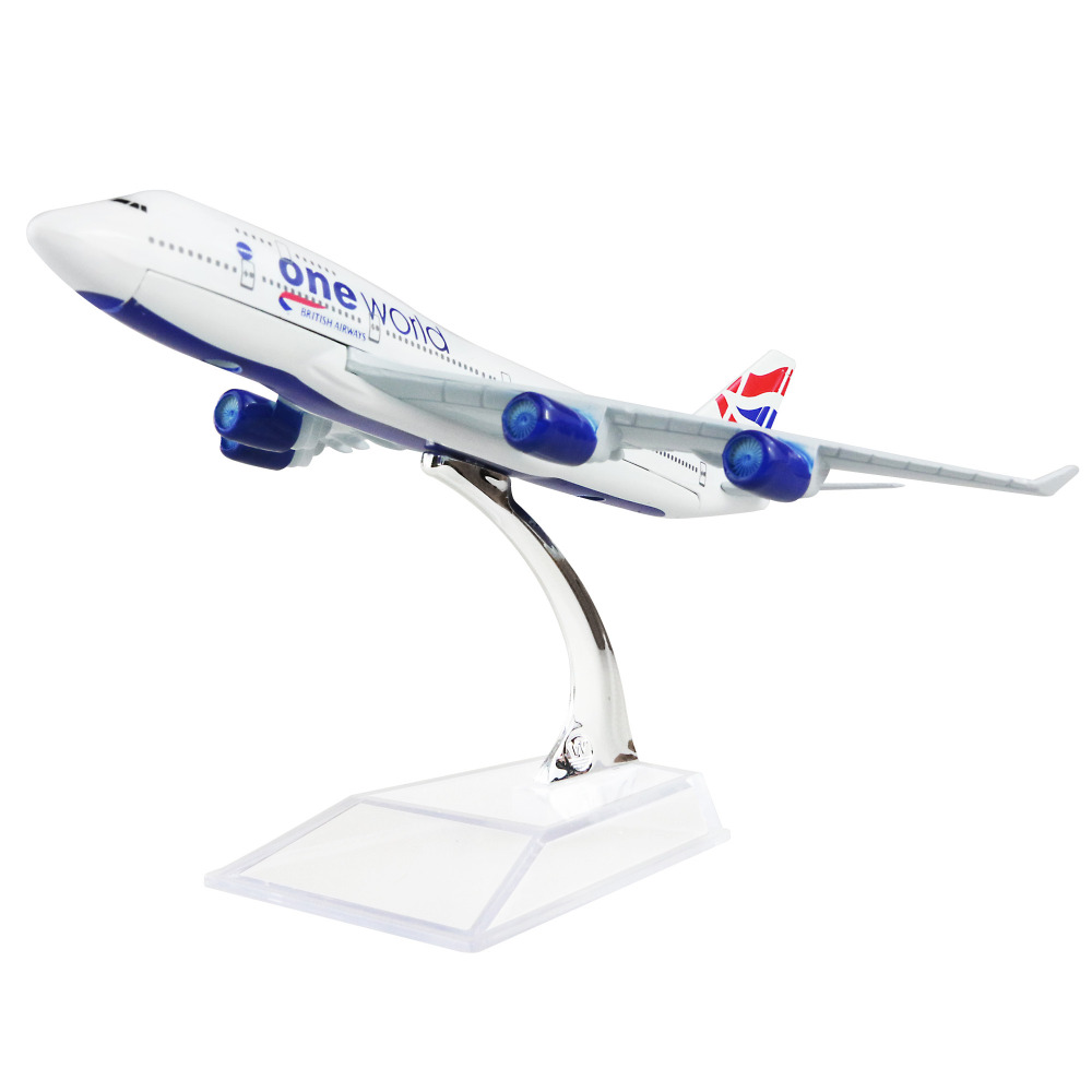 British Airways Boeing 747- 400 british wheel 16cm alloy metal airplane models child Birthday gift plane models Free Shipping