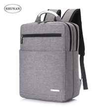 New metal portable 15 inch fashion business men and women multi-function shoulder laptop backpack gift custom