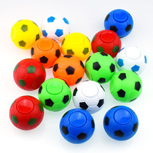 50pcs/lot 5CM*4.5CM Soccer Football Fidget Spinner Plastic Ball Hand Spinner Reduce Stress Increase Attention Toy Gifts Wholesal
