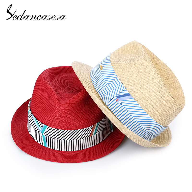 50d6814f75c58 Sedancasesa 2019 New Fashion Sun Hats for Women Sombreros Handmade Ribbon  Vintage Summer Visor Caps Chapeu