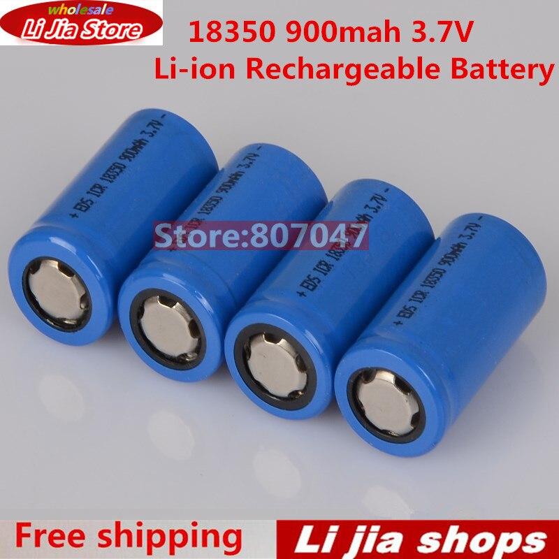 4pcs/lot 18350 Battery 3.7v 900mah Li-ion Rechargeable Battery for K100 Electronic Cigarette VAMO kamry IPV Body