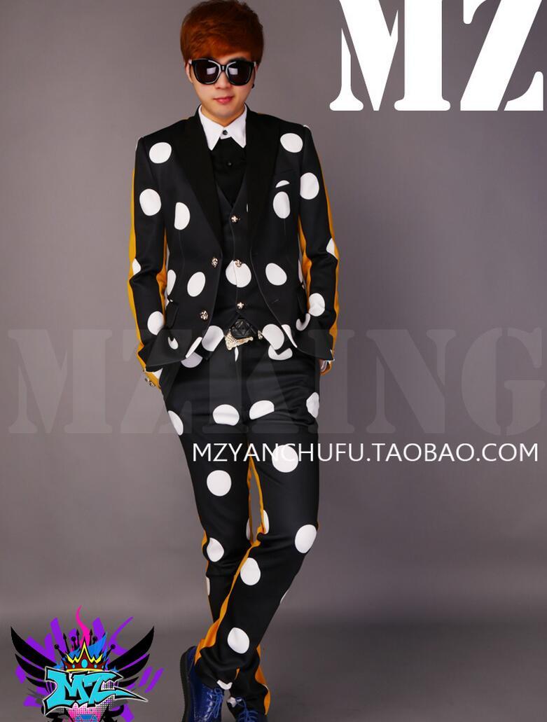 S 2019 Vest Pm Jaune De Costumes Dj Blanc Manteau 2 Chanteur Noir Costume  suit shirt ... 2d6fc2d7405