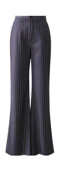 Las Mujeres Ol Imperio Rectos Con Bolsillos Rayas Pantalones De Completos xqEfwv