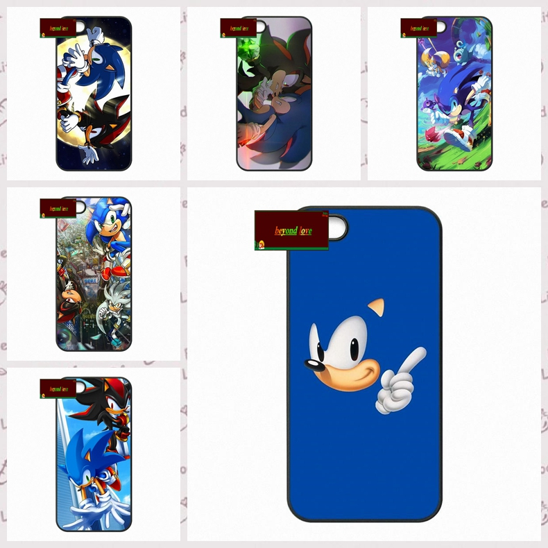 Silver Sonic The Hedgehog Shadow Cover case for iphone 4 4s 5 5s 5c 6 6s plus samsung galaxy S3 S4 mini S5 S6 Note 2 3 4  DE0201