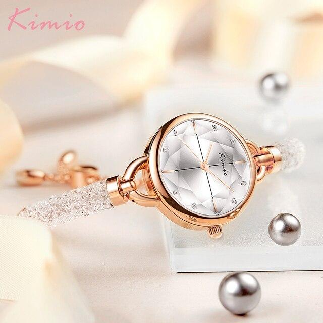 KIMIO Diamond Bracelet Women's Watches Bandage Crystal Watch Women Brand Luxury Female Wristwatch Dropshipping 2021 New Arrivals 2