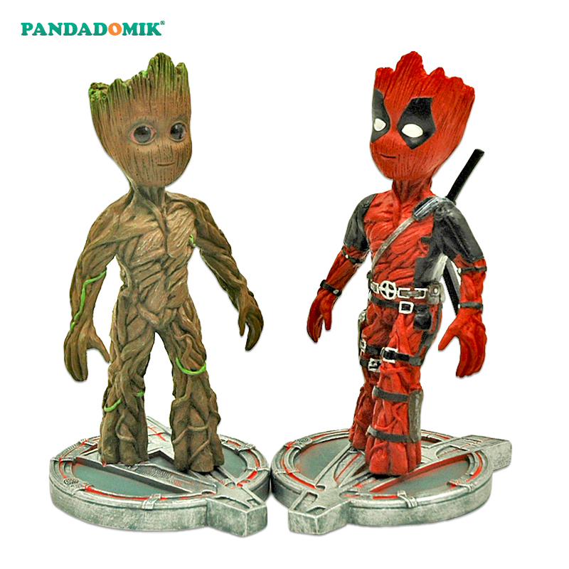 Pandadomik New Groot Resin Toy Figure Deadpool Model Avengers Hulk Action Toy Figurine Marvel Toys for Children Kids Gifts new 1 6 avengers thor odin loki asgard throne heros action figure collectible resin alloy 4kg scenes model toy doll kids gifts