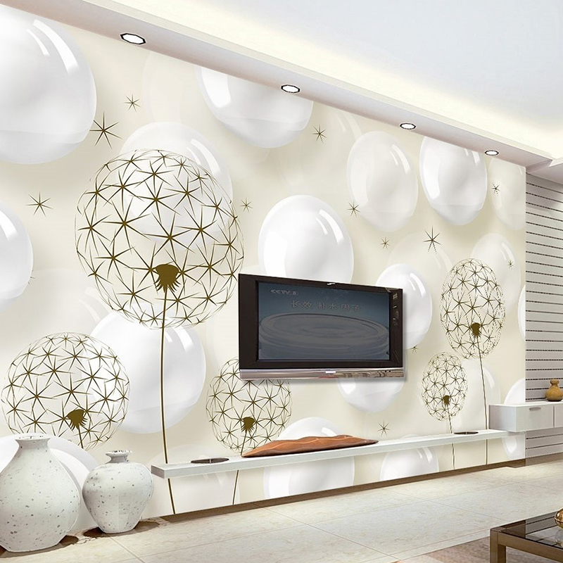 Custom Photo Wallpaper Modern 3D Stereo Circle Ball Dandelion Bedroom Living Room Sofa TV Backdrop Mural Wallpaper For Walls 3 D free shipping 3d personality wallpaper sofa tv coffee house bar backdrop living room bedroom bathrom wallpaper mural