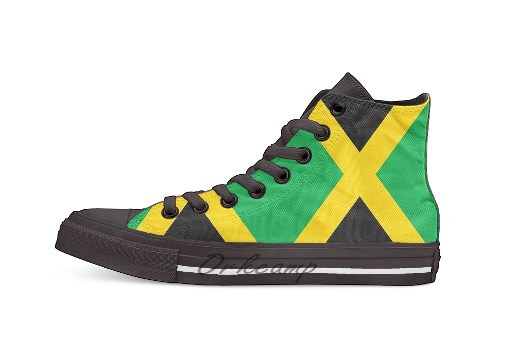 Jamaica Flag Novelty Design Casual Canvas Shoes Custom shoes Drop Shipping