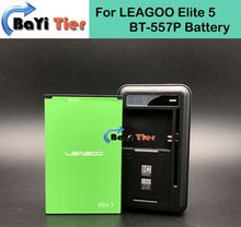 100% New BT-557P Battery + Desktop Dock Wall Charger 4000mAh Lithium-ion Battery for LEAGOO Elite 5+Tracking number