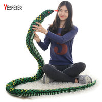 Wholesale Simulation Snake Cloth Toy Soft Stuffed Dolls Bithday Gifts baby Funny Plush Toys all long size 280cm Snake Plush Toy