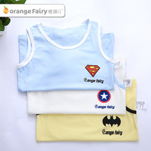 3pcs/lotSuperhero Vest Summer Cartoon Boy Sleeveless T-shirt Sling Cotton Baby Clothing Child Tops camisole