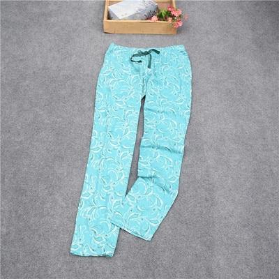 Женские брюки; длинные брюки; тканые хлопковые брюки для сна; женские брюки - Цвет: Light green phoenix