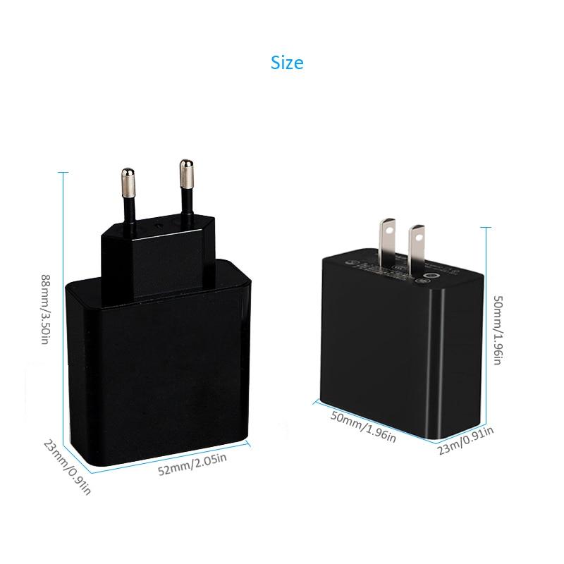 INGMAYA USB-laddare 3-port LED-skärmladdning 2.4A för iPhone iPad - Reservdelar och tillbehör för mobiltelefoner - Foto 5