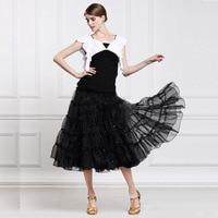 Promotion Lady Ballroom Dancing Skirt Modern Dance Waltz Valse Dress Paillette Tango Galop Fox Trot Social Dance Dress B 2641