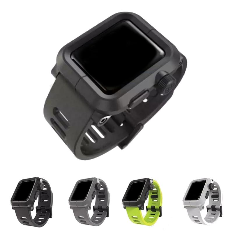 Prix pour URVOI bande pour apple watch protecteur EPIK POLYCARBONATE silicone bande avec Anti-poussière/Saleté Nano Revêtement ABS/PC cas generaltion 2
