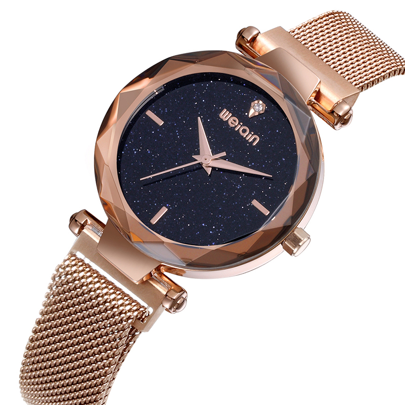 SKONE Women Watches Fashion Ladies Wristwatch Bracelet Luxury Top Brand Womens Quartz Mesh Band Watch Gifts relojes de mujer