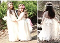 Summer 2017 Baby Girl Birthday Party Outfits Vestidos Children Prom Gown Designs Kids Clothes Girls Beautiful Lace Wedding Dress