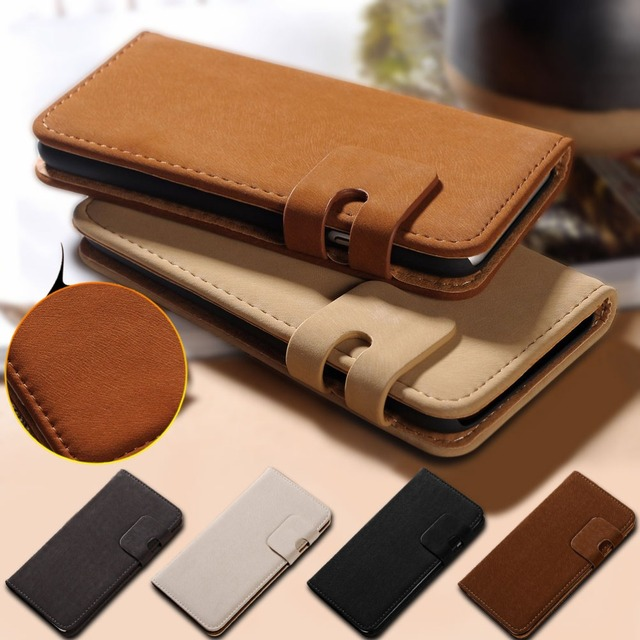new styles c3f7a 7fcd1 US $1.91 52% OFF|Soft Feel Leather Case For iPhone 6 Plus Wallet With Card  Slot Flip Cover Case For iPhone 6S Plus 5.5 Phone Bag -in Wallet Cases from  ...