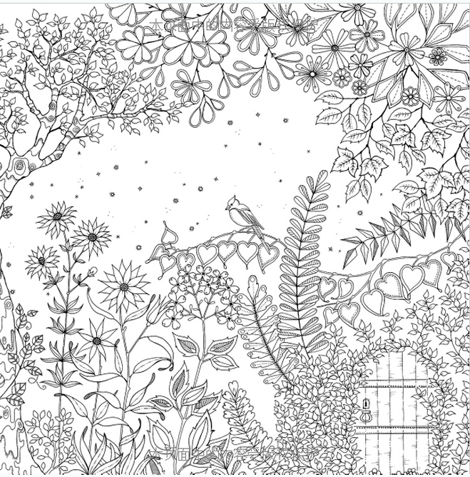 Booculchaha Secret Gardenjardim Secreto Book Coloring Books For Adults Chinese Original With 96 Pages In From Office School Supplies On