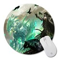 Adventure Game Guild Wars 2 Mouse Pad Small Size Round Mouse Pad Non-Skid Rubber Pad