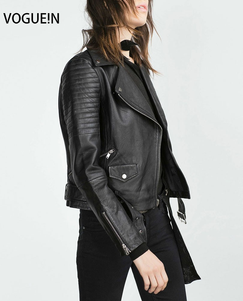 VOGUE!N New Womens Ladies Faux Soft   Leather   Jackets Autumn Winter Pu Zippers Coat Black Motorcycle Outerwear