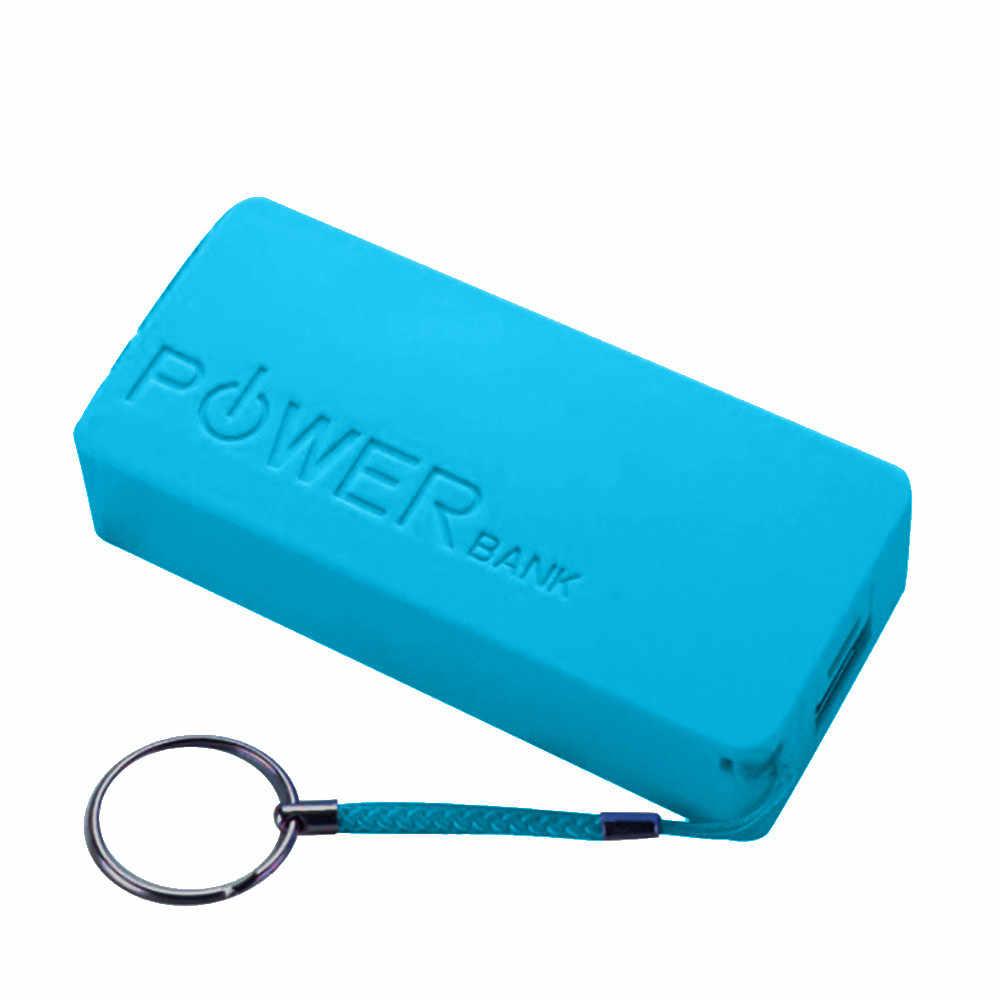 5600 mah 6色ポータブルモバイル電源銀行2 × 18650外部バックアップバッテリ充電器付きキーチェーン携帯電話AU24b