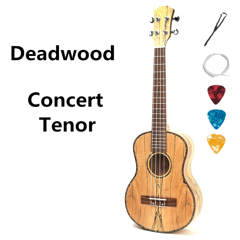 Ukulele 23 26 Inch Acoustic Electric Concert Tenor Deadwood Mini Guitar 4 Strings Ukelele Guitarra Uke Pick Up стоимость