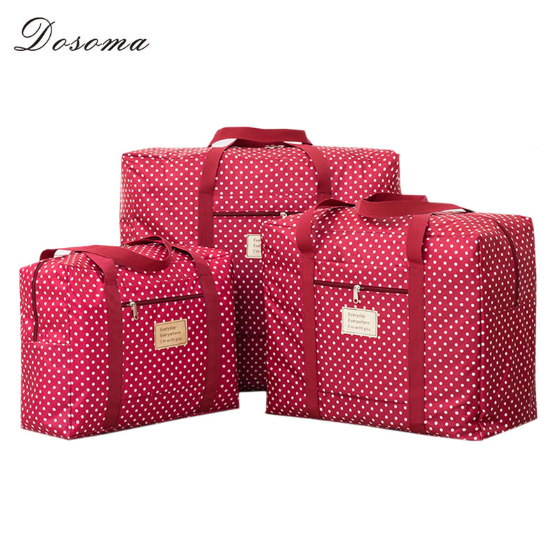 8c15a680948 Fashion Portable Waterproof Folding Travel Storage Bag Large Capacity Quilt  Clothes Underwear Storage Container Moving Tote Bag