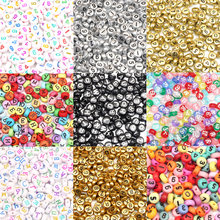 200Pcs Colorful Number Letter Acrylic Beads For Jewellery Marking Loose Spacer Beads Bracelet Necklace Charm Jewelry Finding(China)