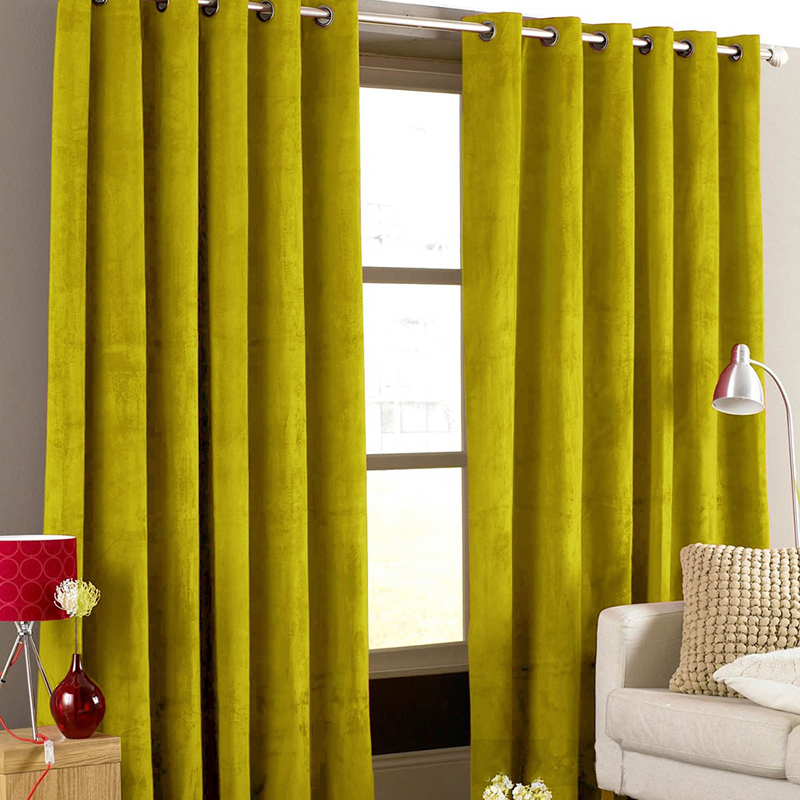 American Italian Flannel Velvet Curtains For The Living Room Window Solid Color Soft Curtains For Bedroom Curtain Background 1PC