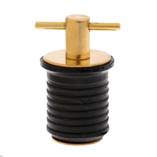 1 Pcs 24mm Rubber Brass Twist Turn Boat Hull Drain Plugs 1.2 Inch  Height Adjustable Corrosion Resistant Accessories