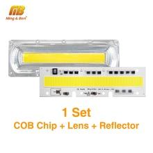 1 Набор Смарт IC светодиодный COB чипы с отражателем объектива водонепроницаемое Силиконовое кольцо 30 Вт 50 Вт 70 Вт 100 Вт 150 Вт AC220V AC110V для DIY прожекторов